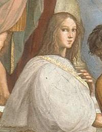Dettaglio della Scuola d'Atene di Raffaello Sanzio. S'ipotizza raffiguri Ipazia