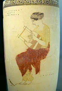 A muse who plays the lyre