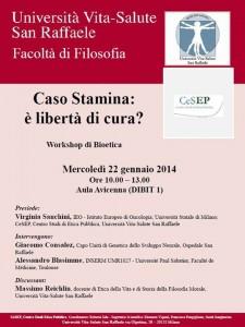 Caso Stamina: è libertà di cura? Università San Raffaele, Milano – 22 gennaio 2014
