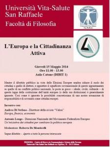EUROPA OGGI: Barbara Spinelli alla Casa della Cultura e il New Deal for Europe al San Raffaele