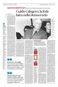 """""""Guido Calogero, la fede laica nella democrazia""""- L'articolo di Maurizio Viroli su """"Il Fatto Quotidiano"""""""