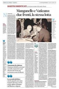 """""""Manganello e Vaticano: due fronti, la stessa lotta"""" – di Maurizio Viroli"""