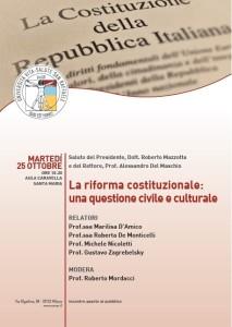 La riforma costituzionale: una questione civile e culturale