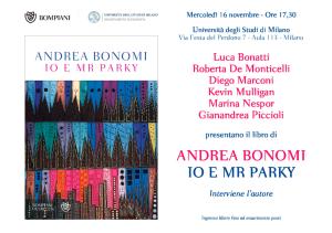"""""""Io e Mr Parky"""" – Presentazione del libro di Andrea Bonomi all'Università degli Studi di Milano"""