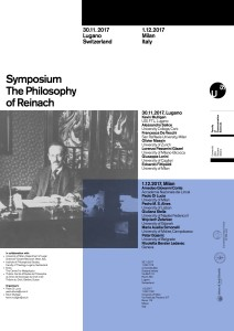 THE PHILOSOPHY OF REINACH – 30 Novembre, 1 Dicembre