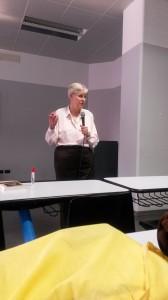 Lynne presenting