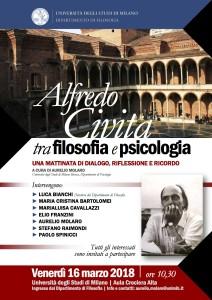 Alfredo Civita: tra filosofia e psicologia – Venerdì 16 Marzo (ore 10.30)