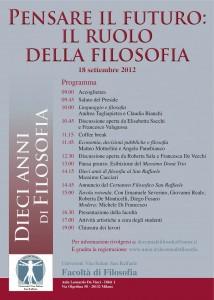 Pensare il futuro: il ruolo della filosofia
