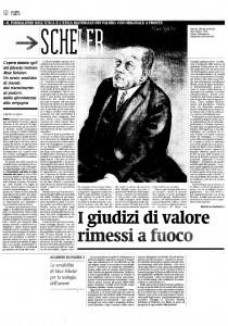 """La nuova traduzione italiana de """"Il Formalismo"""" di Max Scheler. La recensione di Bruno Accarino"""