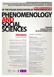 Phenomenology and Social Sciences - Plakat