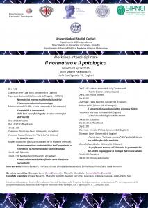 """""""Il normativo e il patologico"""" – Workshop interdisciplinare, Cagliari 23 aprile, 2015"""