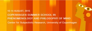 Copenhagen Summer School in Phenomenology and Philosophy of Mind – Deadline Approaching