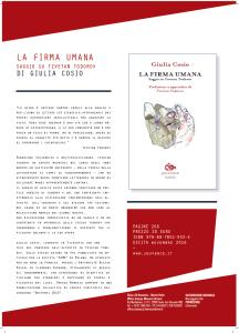 """""""La firma umana. Saggio su Tzvetan Todorov"""" – Il libro di Giulia Cosio"""