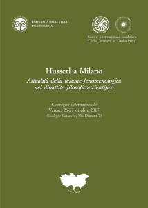 Husserl a Milano – Convegno Internazionale, Varese, 26-27 Ottobre