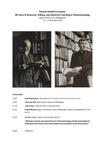 Husserl Archief te Leuven: 80 Years of Research, Editing, and Advanced Teaching in Phenomenology