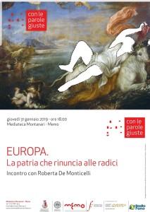 Europa. La patria che rinuncia alle radici – Roberta De Monticelli, Mediateca Montanari (Fano, 31 Gennaio)