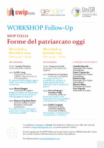"Workshop follow-up ""Forme del patriarcato oggi"", 9 dicembre 2020"