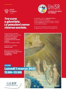 """Presentazione editoriale """"Tra cura e giustizia"""" di Elena Pulcini – 1 marzo 2021"""