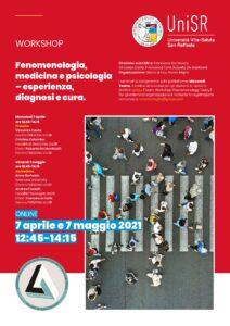 """Workshop """"Fenomenologia, medicina e psicologia"""" – 7 maggio 2021"""