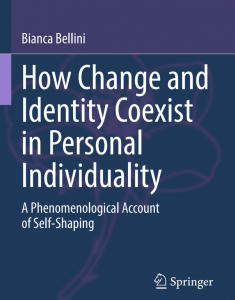 Book publication announcement: How Change and Identity Coexist in Personal Individuality (Bianca Bellini)